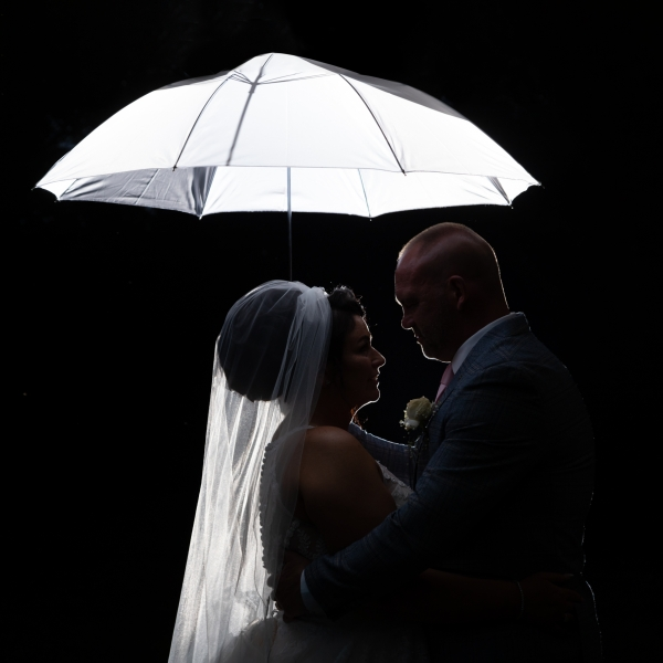 Wedding Photographer in Essex, bridal silhouette